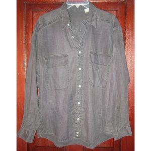 Fenn Wright Manson S M Linen Shirt Top Tunic Gray